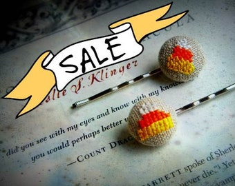 SALE - Candy Corn - Hair Pin Duo