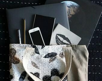 Neutrals - Big Block Fabric Tote Bag