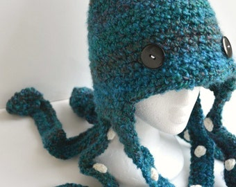 05e44057e89 Octopus Hat Crochet - Beautiful Lagoon
