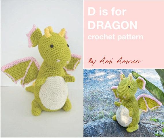 D ist für Dragon Pattern häkeln Amigurumi PDF | Etsy