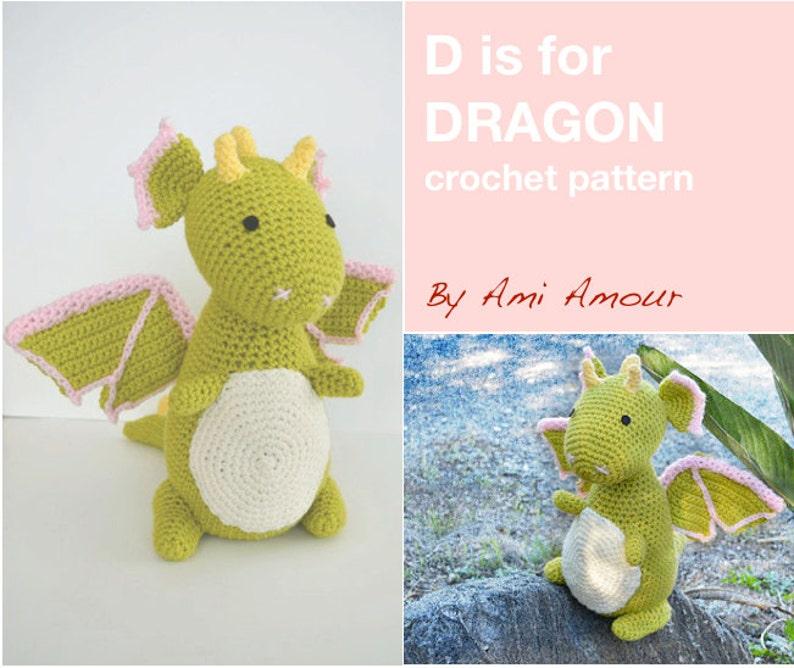 D is for Dragon Pattern Crochet Amigurumi PDF image 0