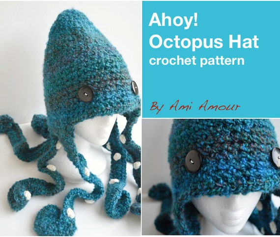 Ahoy Octopus Hat Pattern Crochet PDF Etsy Enchanting Crochet Octopus Hat Pattern