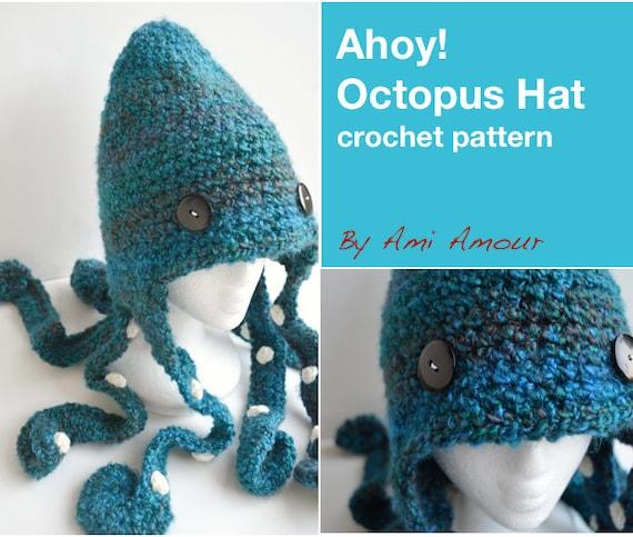 Ahoy Octopus Hat Pattern Crochet PDF  af458a7dcb4