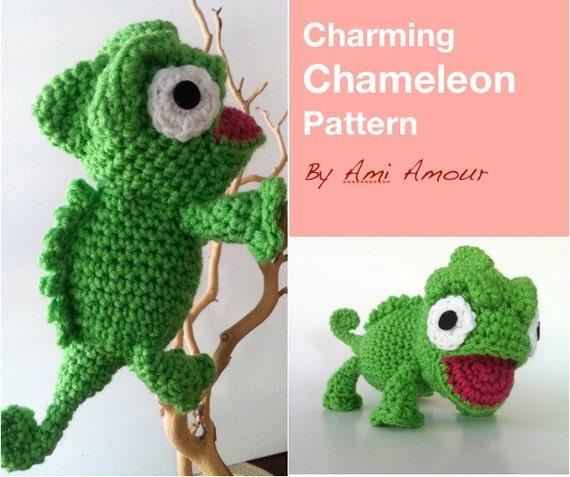 Charming Chameleon Pattern Amigurumi Crochet Pdf Etsy