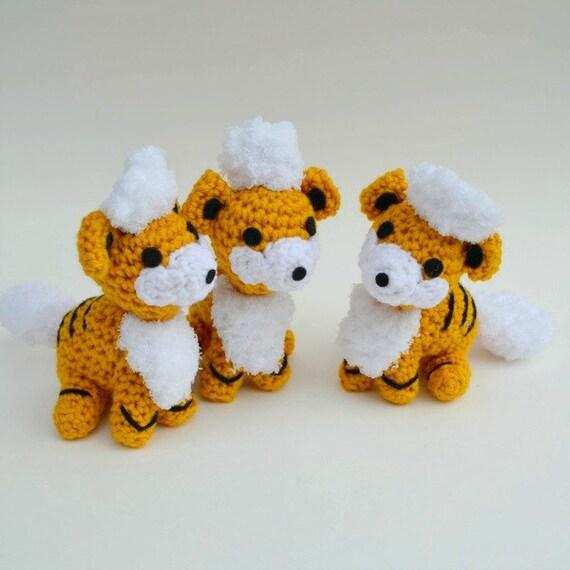 Growlithe pattern amigurumi crochet Pokemon PDF | Etsy