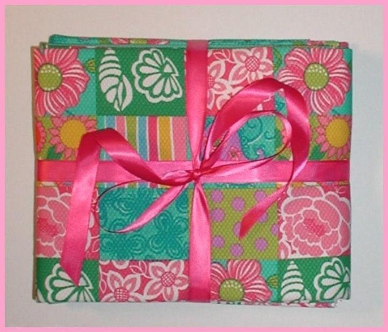 Pique Fabric Sea Shells Dots Shell Paisley Aqua Lime Pink Tropical Turquoise 3 yards combo