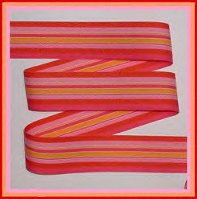 8bd329d5609 Heat Wave Pink Orange Red Ribbon Grosgrain Heatwave Stripes