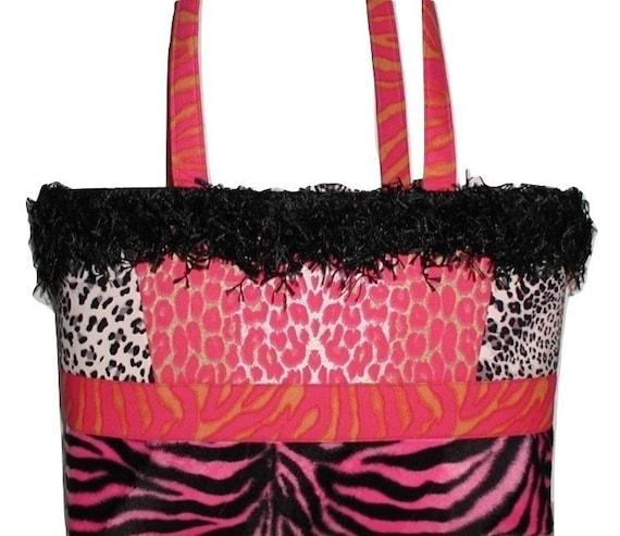 Pink Leopard Purse Pink Zebra Purse Black Zebra Purse Pink Etsy