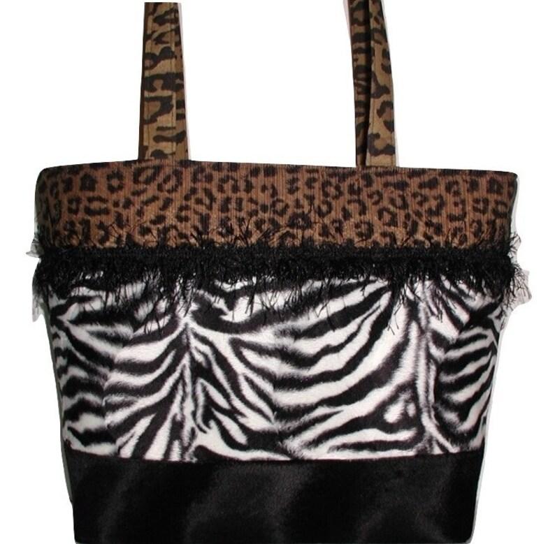 8b0df5ae8037 Zebra And Leopard Handbag Leopard Zebra Purse Zebra Purse | Etsy