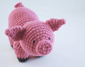 PDF CROCHET PATTERN - Piggy