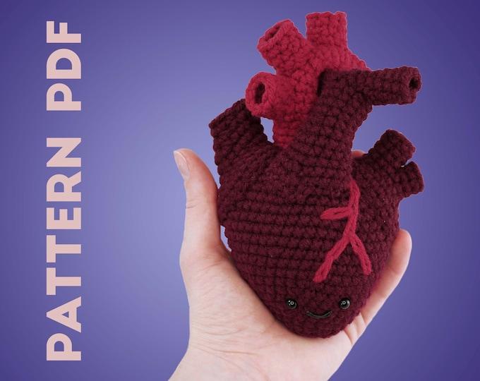 PDF CROCHET PATTERN - Human Heart