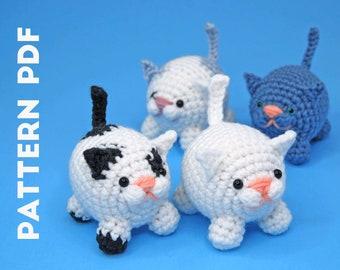 PDF CROCHET PATTERN - Little Cats Amigurumi - Mini Kitty - Stuffed Toy Animal Pet Set