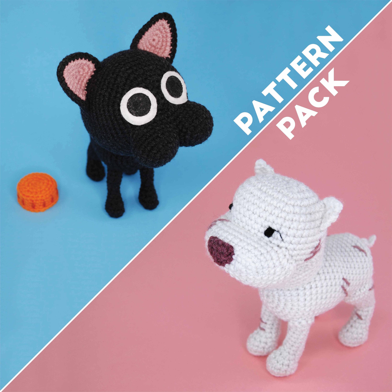 Crochet Bulldog - Pattern, PDF in English, Amigurumi Bulldog ... | 3000x3000