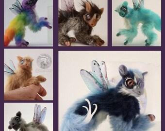 Dragon Doll - CUSTOM DRAGON - Handmade Poseable - Fantasy Creature - Fantasy Animal MJALBERTSCULPTS