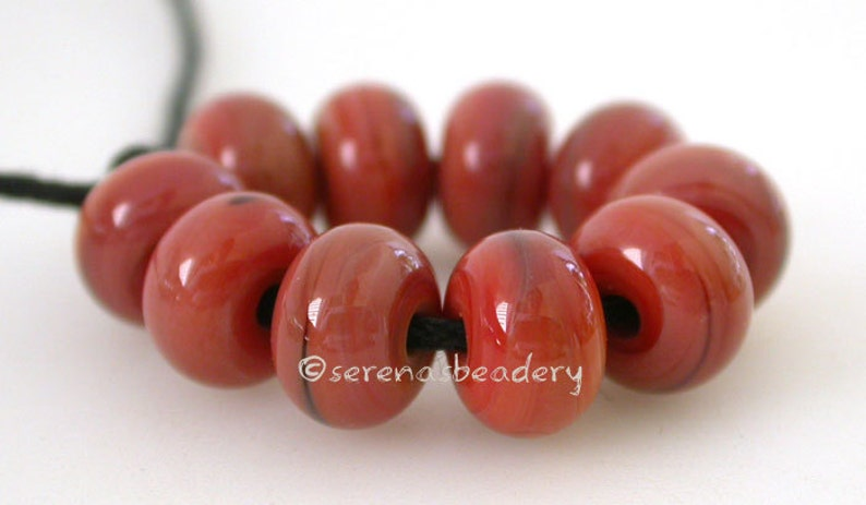 BLOODY MARY Lampwork Round Spacer Glass Beads Handmade glass spacer bead red glass bead 8 mm taneres red streaky