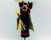Crow Mother -Miniature Kachina Doll, Native American Doll, Wooden Indian Doll, Hopi Spirit Doll