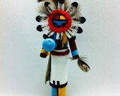Kachina Doll, Spirit Doll, Native American, Miniature Kachina, Wooden Indian Dolls, Hopi,Sun Kachina