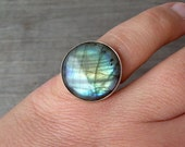 Pinky Bling Labradorite Ring, Sterling Silver (Recycled), Size 4