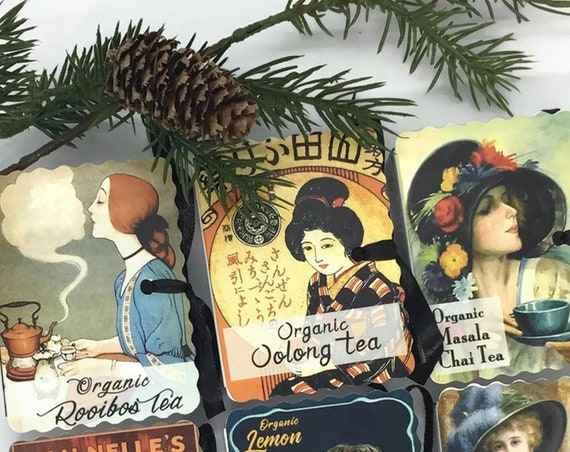 Vintage Women Book Club Tea Gifts | ORGANIC TEA Tea Lovers Gifts | Valentine Gifts | Order 7 or More & Save 10 Percent |