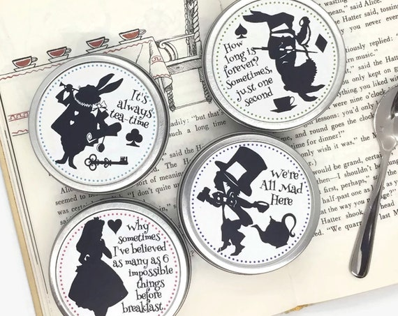 Alice In Wonderland Organic Tea Tins Gift Boxed Set