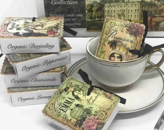 JANE AUSTEN Books Organic Tea Gift Boxed Set