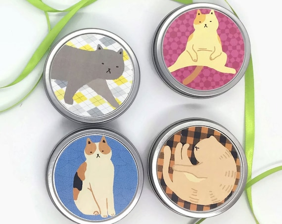 Cat Lovers Organic Tea Tins  Boxed Set Shelter-inPlace Gift | Gift for Cat Ladies | Get Well Tea Gift