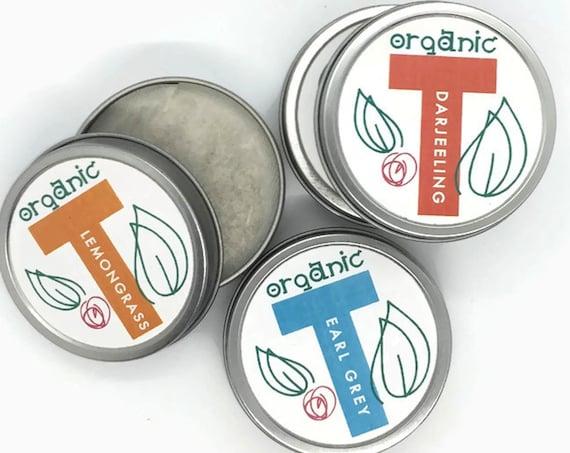 Organic Tea Tins Modern Gift Boxed Set | Designer Urban Chic Tea Pouches Foodie Tea Lovers Gift Hanukkah Christmas Hostess Mom Secret Santa