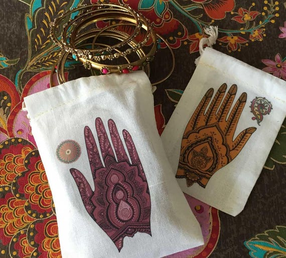 20 Mehndi Ceremony Bridal Shower Favor Bags 6x8 | South Asian Indian Wedding | Muslim Henna Engagement Voni Function Mehendi CLOSEOUT SALE