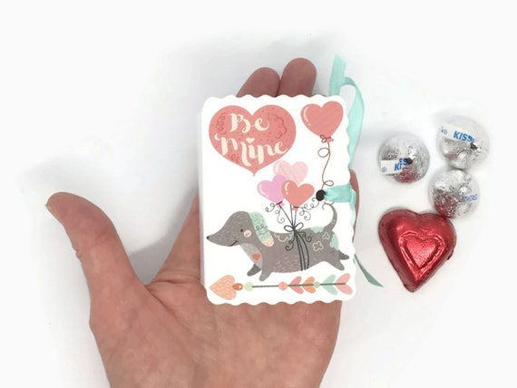 Dogs Cats Animals Valentine Mini Book Gift Box Cards 25 Boy Etsy