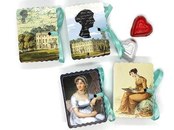 Jane Austen Party Favors | 24 Personalized Miniature Book Boxes for Birthdays, Bridal Showers and Tea Parties