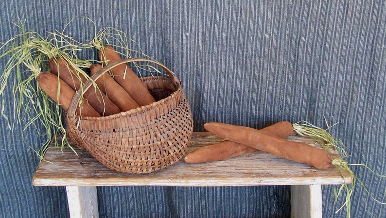 Primitive Carrots Rustic Farmhouse Decor  SOLD INDIVIDUALLY image 0