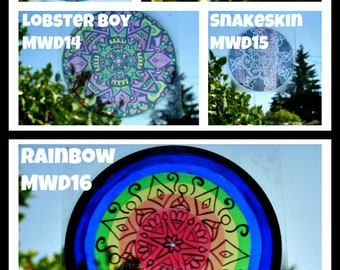 Mandala Window Decals - Set of Three - Geometric Designs to Peel and Stick - Choose Your Colors