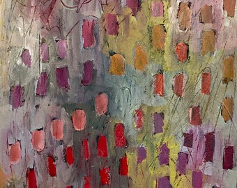 Less Travelled 11 by 14 Intuitive Abstract Landscape Painting