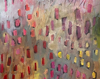 Autumn's Joy 11 by 14 Intuitive Abstract Landscape Painting