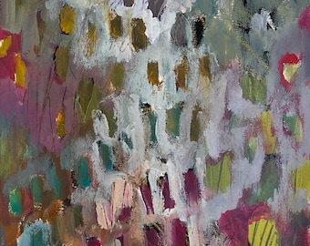 Under Shelter 11 by 14 Intuitive Abstract Landscape Painting