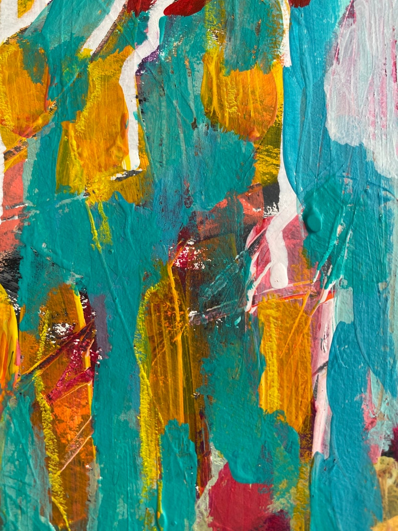 Garden Walk 11 by 15 Intuitive Abstract Painting