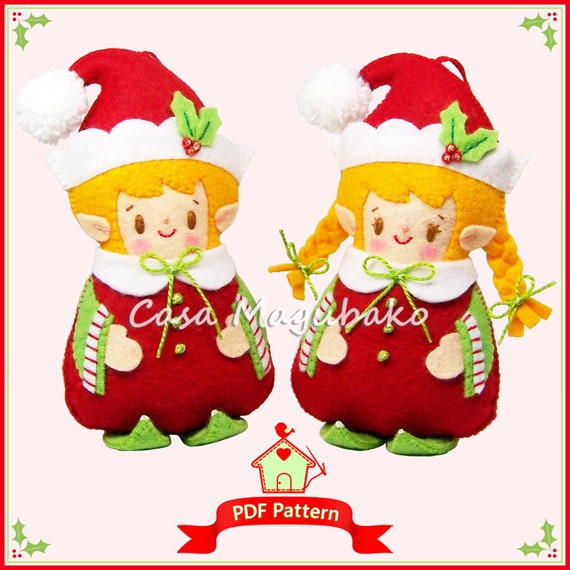 PDF Felt Pattern Elf Ornament Sewing Pattern Christmas Etsy Stunning Elf Pattern