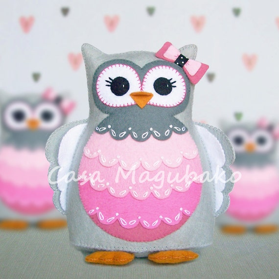 PDF Pattern Owl Felt Pattern Hand-Stitched Owl Stuffed | Etsy