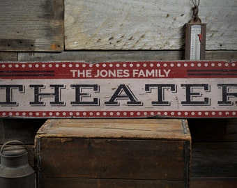 Good Theater Wood Sign, Home Theater Decor, Movie Lover Sign, Movie Room Decor, Home  Theater   Rustic Hand Made Vintage Wooden Sign ENS1001411