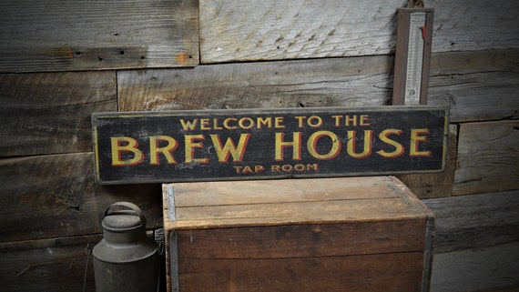 Welcome to Our Home Wood Sign Rustic Hand Made Vintage Wooden Sign