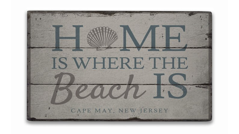 Rustic Hand Made Vintage Wooden Decor Wood Sign Wooden Beach Home Sign Beach House Ocean Home Sign Home Gift Beach Home Sign