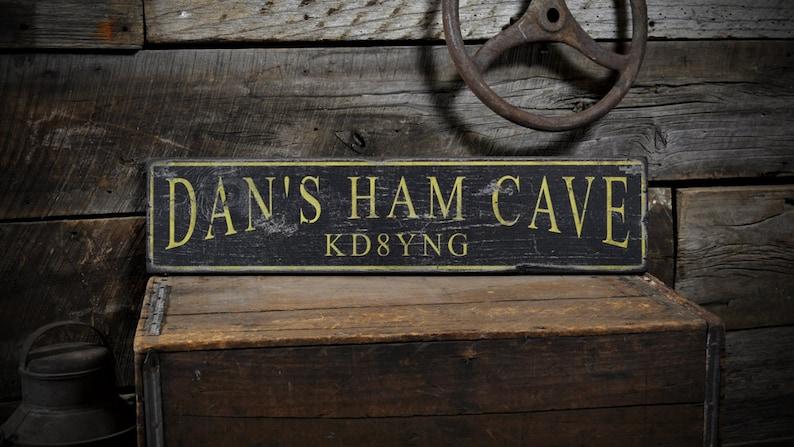 Custom Ham Radio Sign Ham Radio Sign Ham Radio Wood Ham image 0