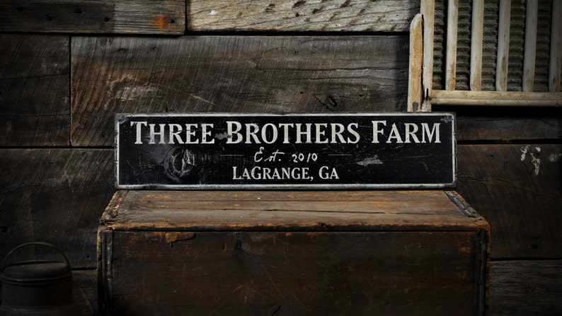 City Rustic Hand Made Vintage Wood Sign State Wood Sign Custom Farm