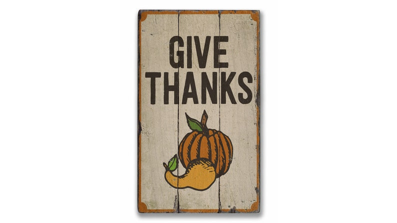 Wooden Thanks Sign Rustic Hand Made Vintage Wooden Decor Turkey Thanks Sign Decor Wood Sign Wood Parking Signs Give Thanks Sign