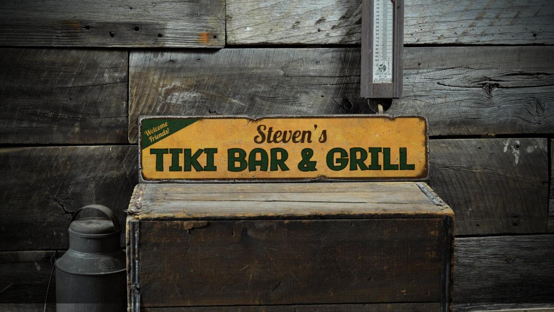 Tiki-Bar Schild benutzerdefinierte Tiki Zeichen Tiki-Dekor | Etsy