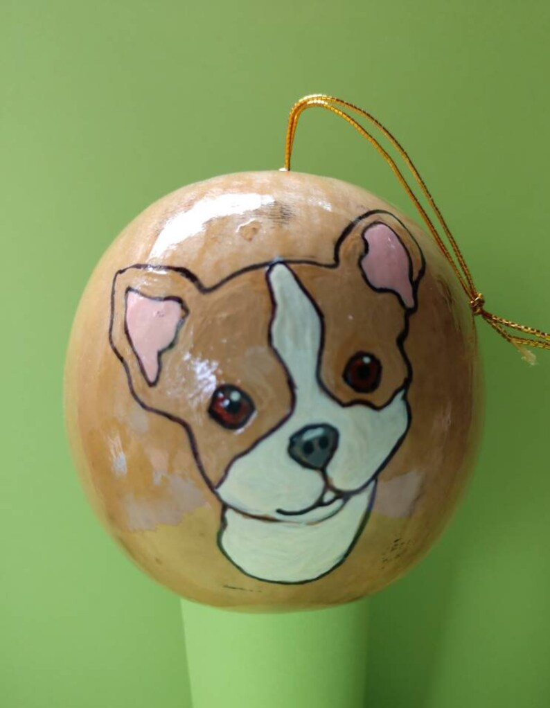 Chihuahua Christmas Gourd Ornament Custom Option Available image 0