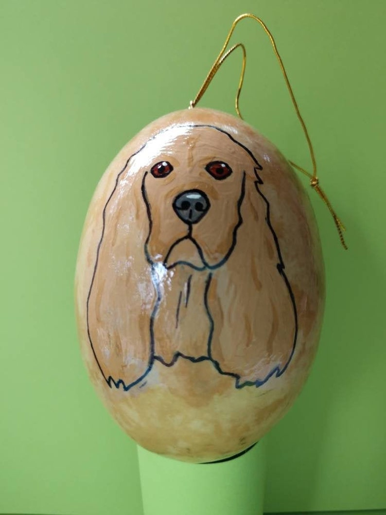 Cocker Spaniel Christmas Gourd Ornament Custom Option image 0