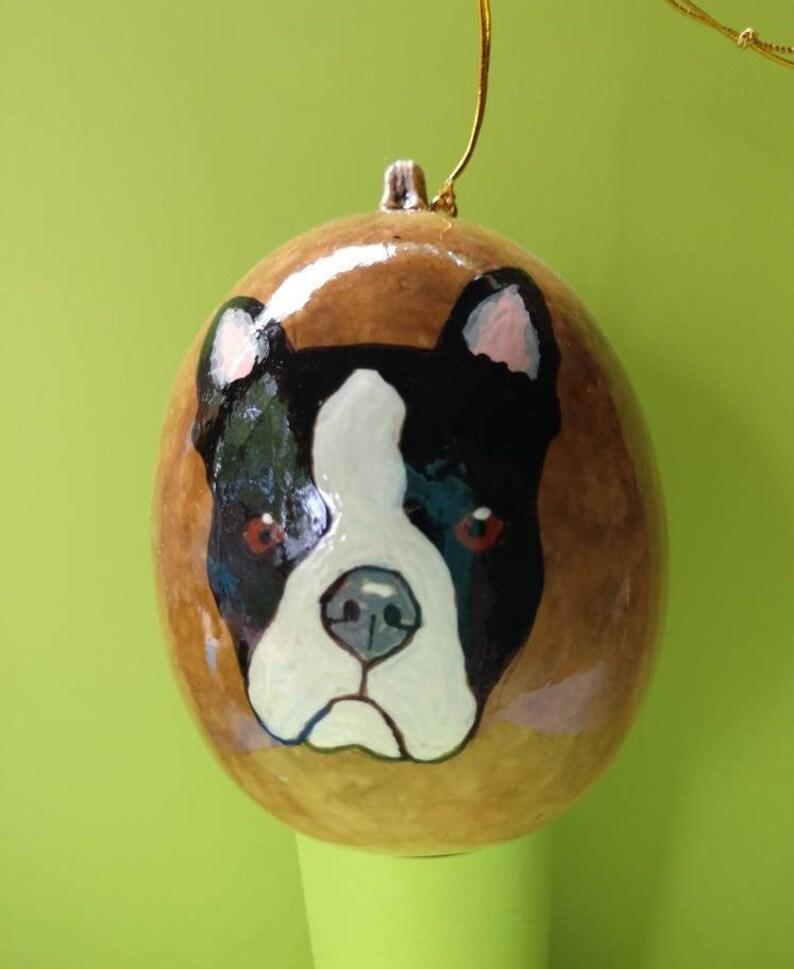 Boston Terrier Christmas Gourd Ornament Custom Option image 0