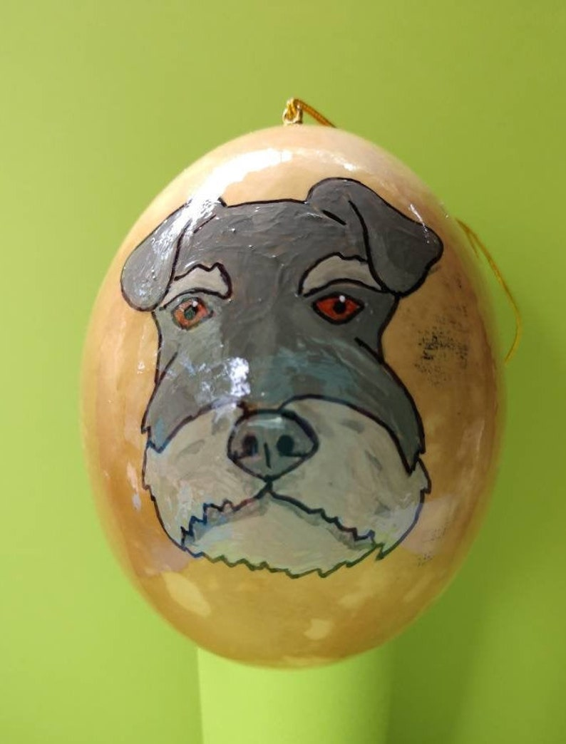 Schnauzer Christmas Gourd Ornament Custom Option Available-by image 0