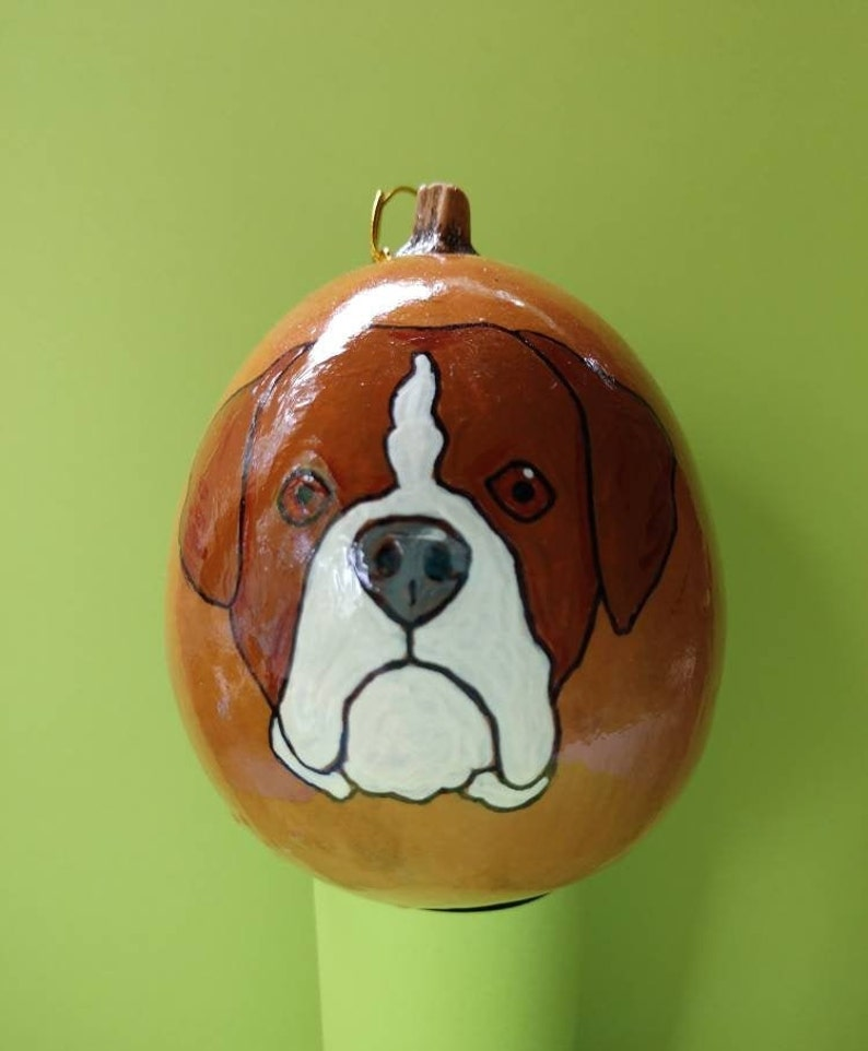 Boxer Christmas Gourd Ornament Custom Option Available by image 0